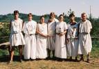 Olympané :: zleva:Poseidón - Theopompos (Tomáš),Apollón - Daipos (Pápi),Héra - Erétria (Máchalka),Zeus - Varikulos (Luděk), Artemis (Jana), Hefaistos - Ladás (Skokan),Erixidás (Ota)