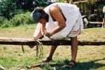 při stavbě baribola :: Řecko 2004